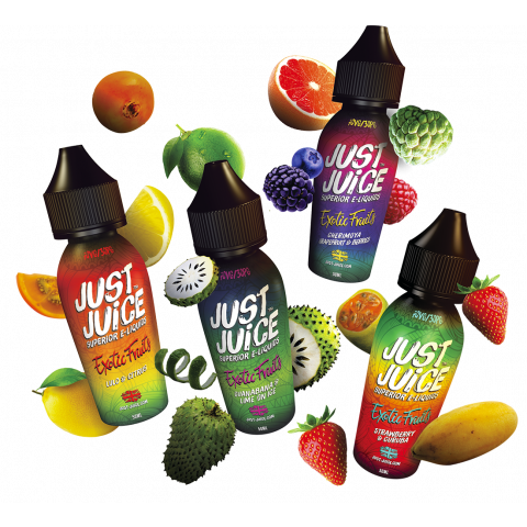 Exotic Fruits Shortfill Full Range by Just Juice