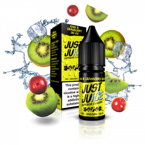Kiwi & Cranberry on Ice 50/50 eLiquid from Just Juice