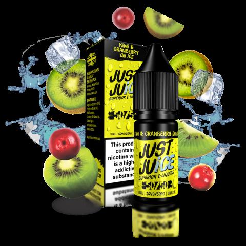 Kiwi & Cranberry on Ice 50/50 eLiquid from Just Juice