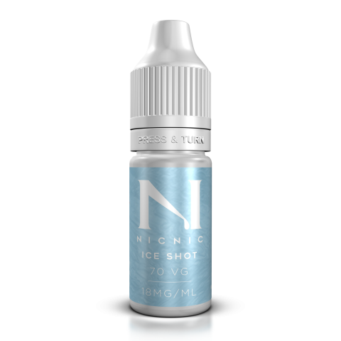 Nic Nic Ice Shot 70vg 18mg/ml Nicotine Shot